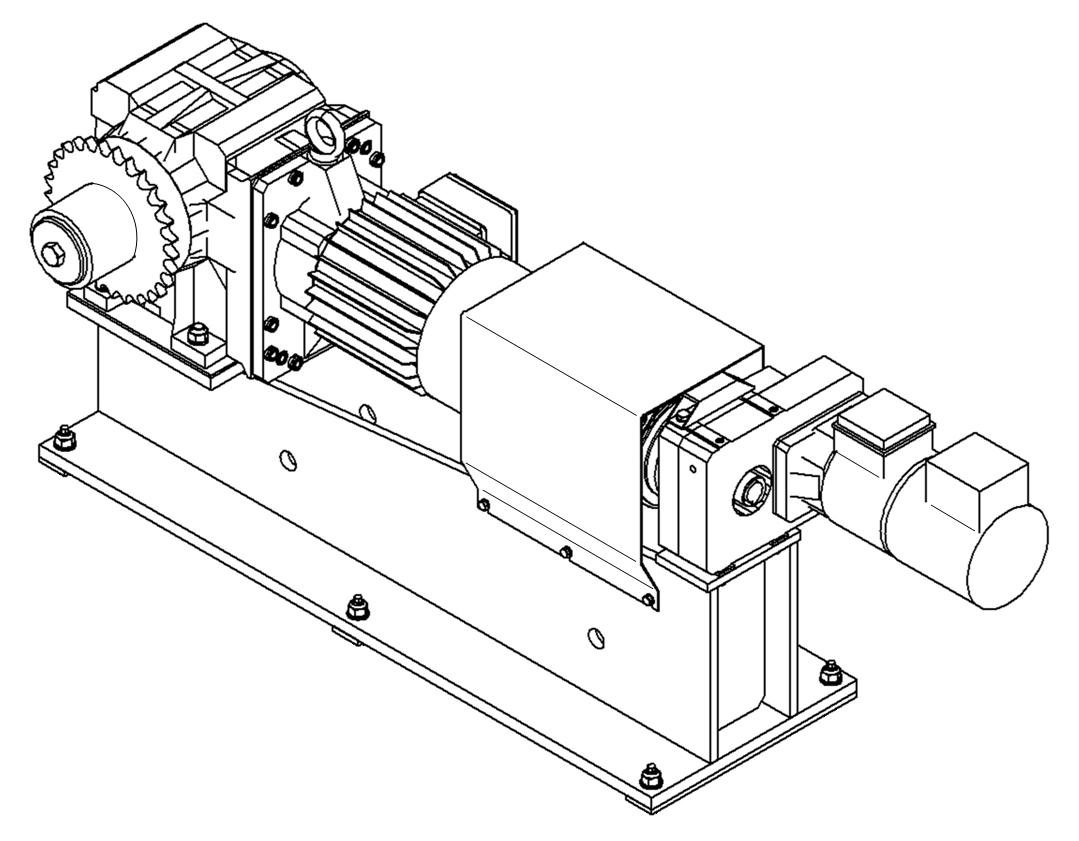 Pogonska tehnika-BAUER-Industrijska oprema-reduktorji-gonila-Pogonski sklop Štore Steel